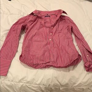 Long sleeve button down.